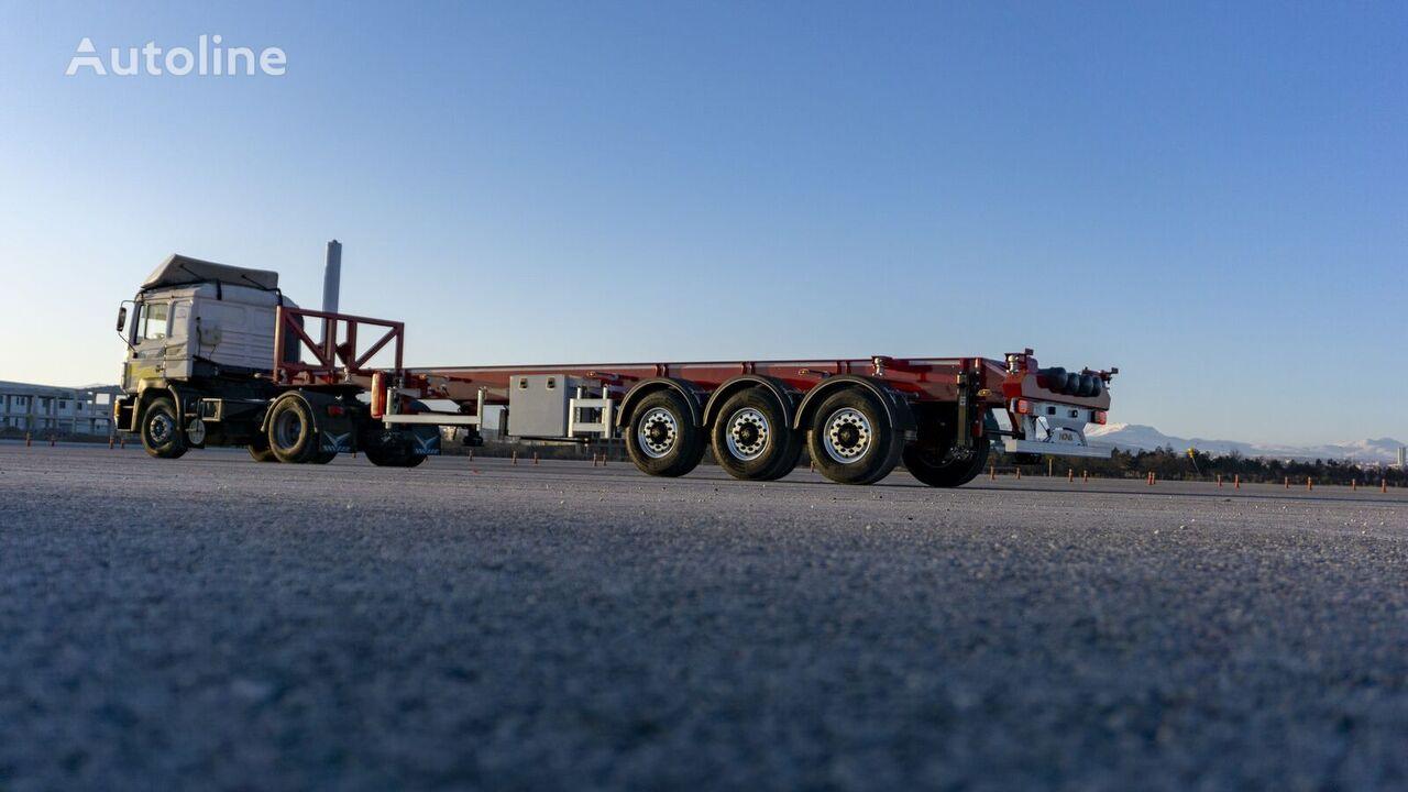 new NOVA Tipping Container Trailer 20, 30, 40 Ft  container chassis semi-trailer