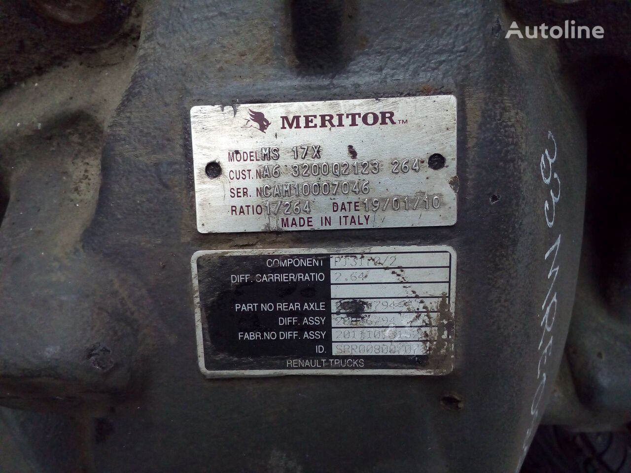 RVI/VOLVO DXI MS17X 37/14 Meritor reducer for tractor unit