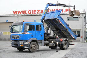 MAN TGM 18.240 , DOKKA 7 seats , A/C , tipper + crane PK , grapple + dump truck