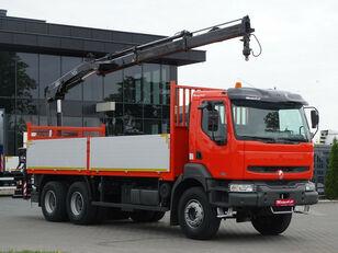 RENAULT Kerax 370 dci 6x4 Darus HIAB 144 flatbed truck