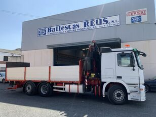 MERCEDES-BENZ ACTROS 2536 FASSI 235 flatbed truck