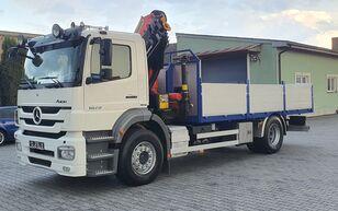 MERCEDES-BENZ AXOR 1829 CRANE - HDS Palfinger PK 18002 - 15m flatbed truck