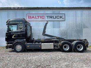 SCANIA R580, 6x4 hook lift truck